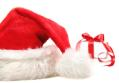 santa-hat-and-gift-with-red-bow-sandra-cunningham